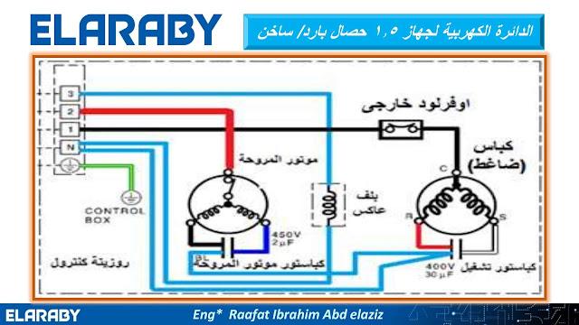 الدائرة الكهربية لجهاز التكييف