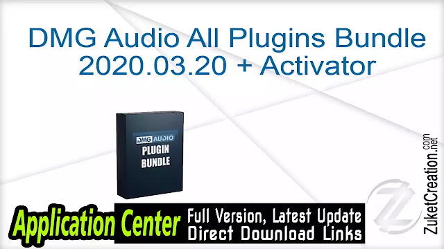 DMG Audio All Plugins Bundle 2020.03.20 + Activator