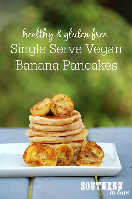 Easy Single Serve Vegan Banana Pancakes Recipe - vegan, gluten free, healthy, refined sugar free, egg free, dairy free, soy free, nut free, clean eating recipe!