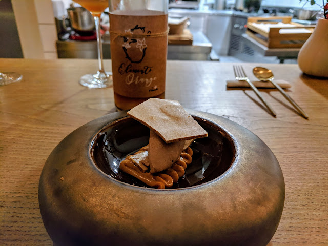 Bilbao at Christmas: Lea and Perrins and tamarind dessert at Mina Restaurant Bilbao