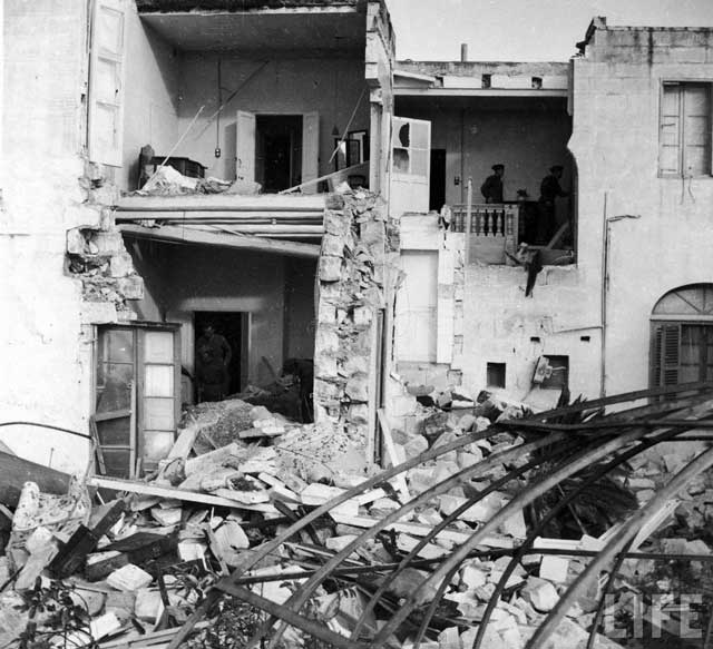 Malta bomb damage, 20 January 1942 worldwartwo.filminspector.com