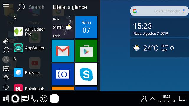 cara mengubah tampilan andoid dengan tampilan windows