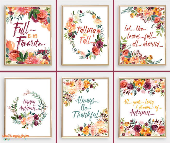 Watercolor Fall Printables