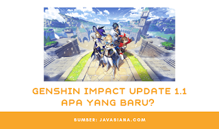 Genshin Impact Apk Update 1.1, Apa Yang Baru?