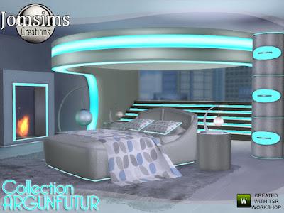 argunfutur bedroom led and reflections Argunfutur спальня для The Sims 4 Спальня Светодиодные и отражения 11 новых объектов на футуристическую тему, с отражением Светодиодные и спальные комнаты. во главе. часть 2 структура привела. привел кровать. светоотражающий столик светодиодный комод. светодиодный камин. светодиодные лестницы деко. подушки кровати привели. одеяло deco.table лампа. торшер. Автор: jomsims