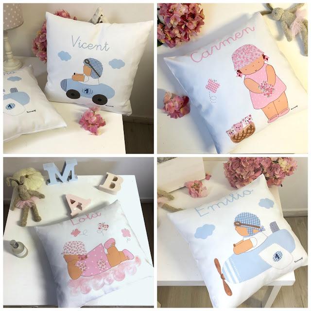 decoración habitaciones infantiles cojines personalizados