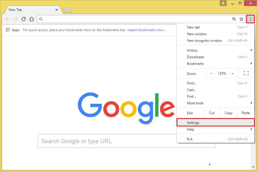 General Computers: Disable Javascript On Google Chrome 58