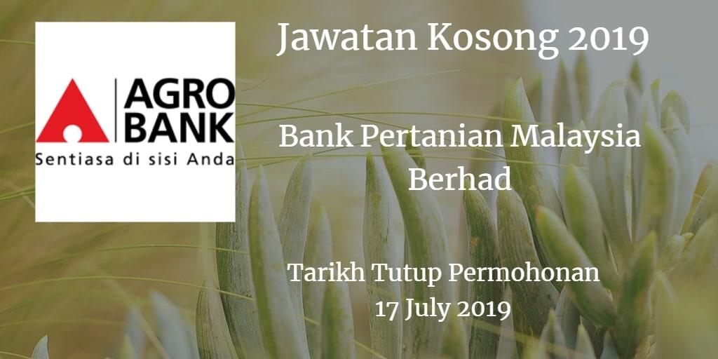 Jawatan Kosong Agrobank 17 July 2019