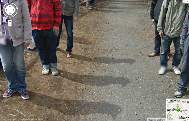 Scary Bird People Shadows Google Street View
