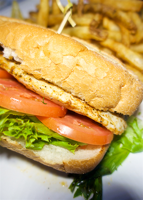 Blackened Red Fish Sandwich at Sliders in Amelia Island, FL - SO good!