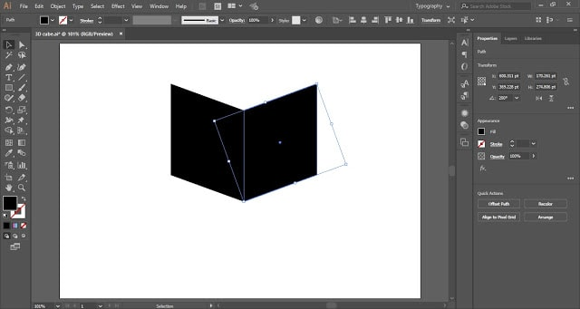 3D cube in Adobe Illustrator