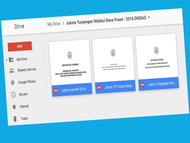 Download File Guru Juknis ( Tunjangan Khusus, Tunjangan Profesi & Tunjangan Insentif ) Guru 2016 Format File Pdf