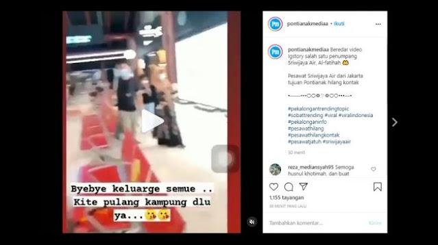 Viral Video Terakhir Diduga Milik Penumpang Sriwijaya Air yang Hilang