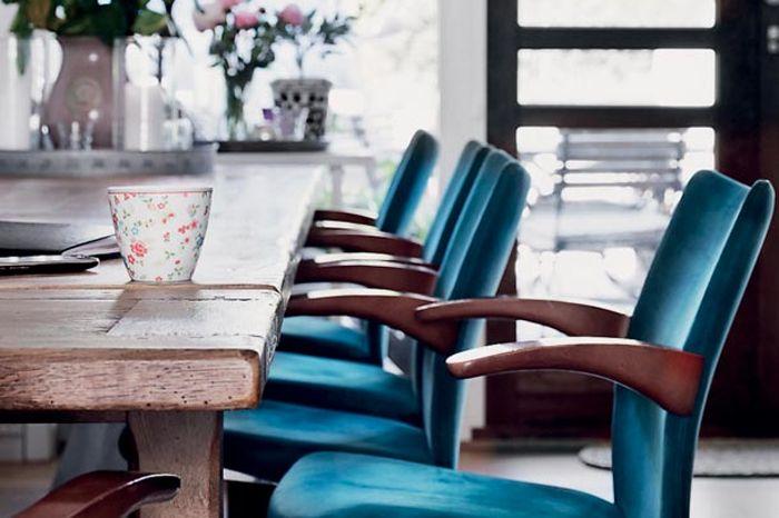 Teal velvet chairs