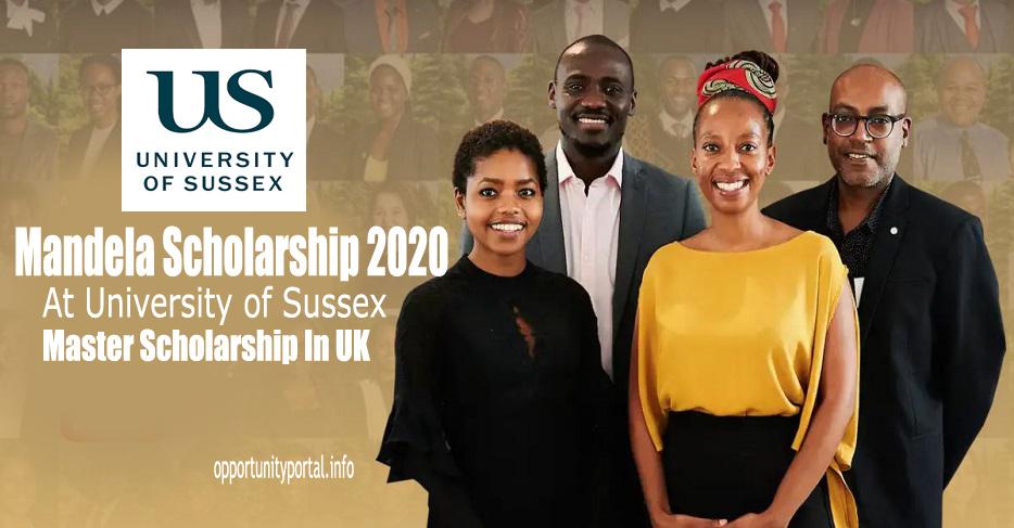 Bourse d'études 2021 de l'Université du Sussex Mandela pour les étudiants sud-africains