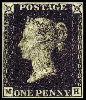black penny postimerkki