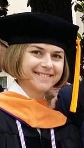 Navy Lt. Cmdr. Kara McDowell following graduation from USU. (Courtesy photo)