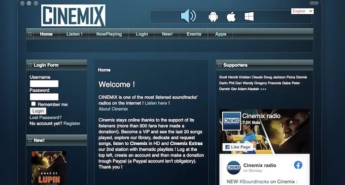 محطات راديو ويب مفيدة Cinemix