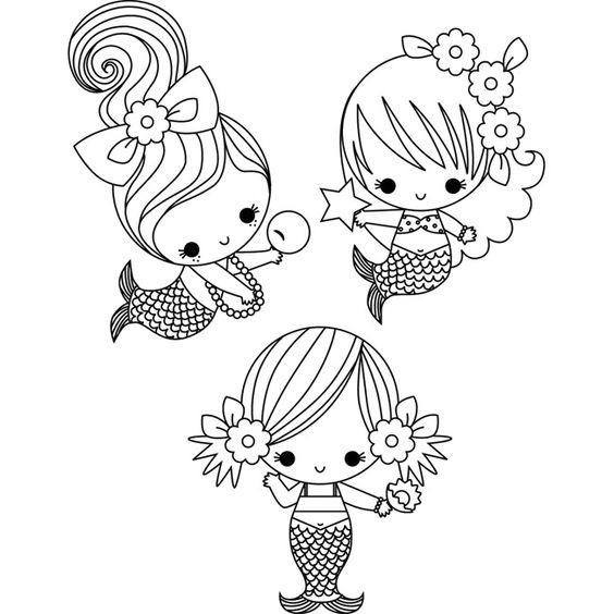 Desenhos De Sereia Para Colorir Pintar Imprimir Folclore Para