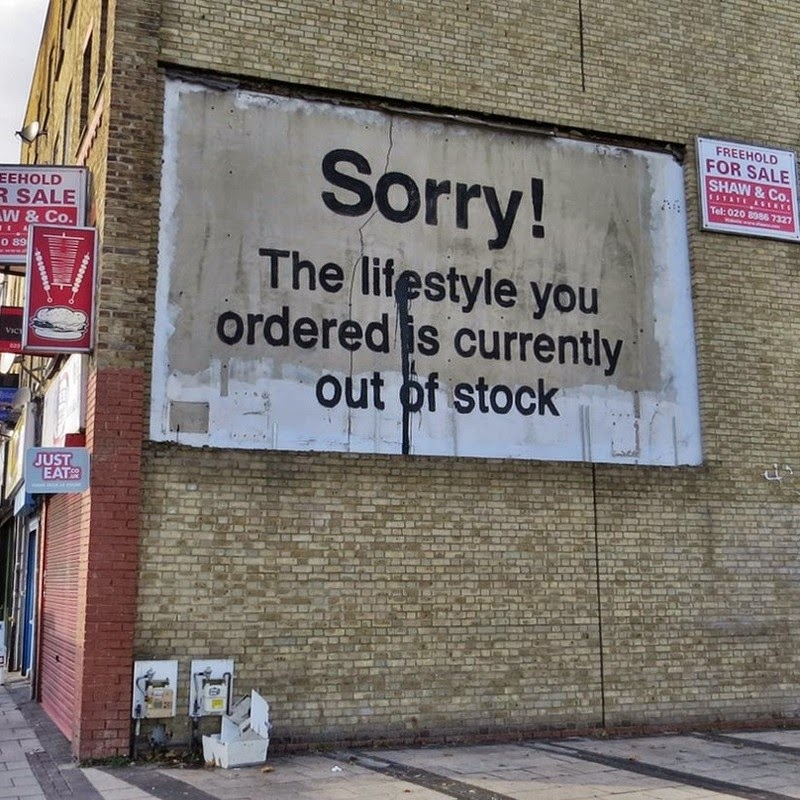 15 Of Banksy's Most Iconic Street Artworks - The Lifestyle You Ordered Is Out Of Stock, 2012