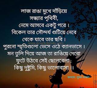 Sondhyar Prithibi Poem