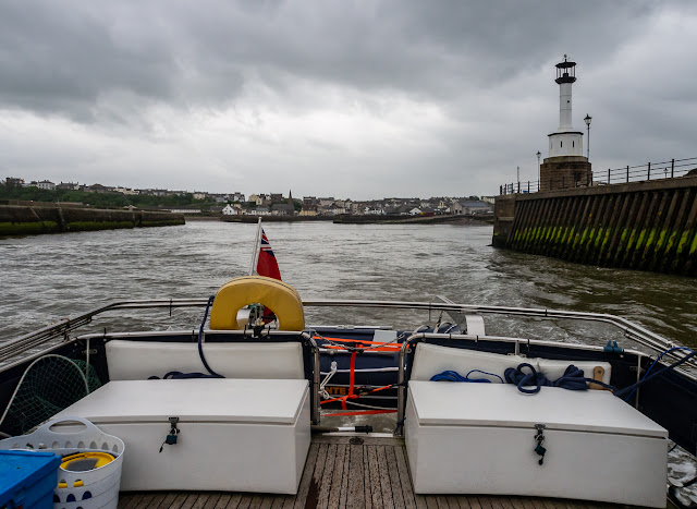 Photo of Ravensdale heading out of Maryport Basin onto the Solway Firth
