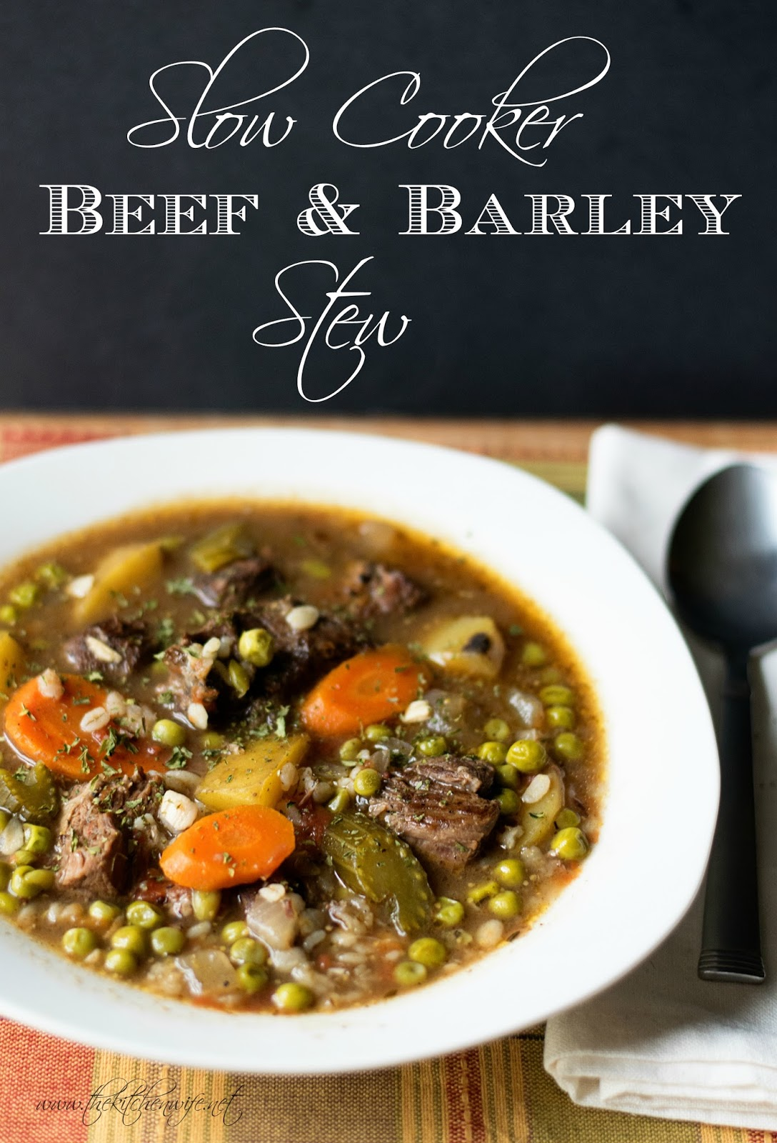 Perfect Crockpot Beef And Barley Stew The Kitchen Wife
