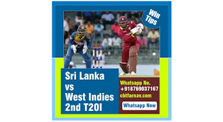 100% Sure Prediction Sri Lanka vs West Indies 2nd T20