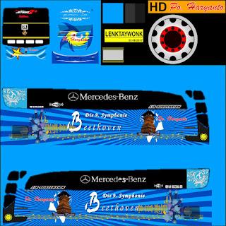 Download Livery Bus Po Haryanto Marcedes Benz