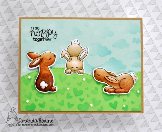 Bunny Card by Amanda Bodine | Bitty Bunnies Stamp Set and Die Set by Newton's Nook Designs #newtonsnook