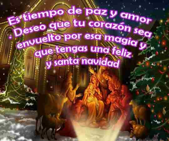 Que la mágia de la navidad te visite e inunde de amor, feliciad y comprensión en tu hogar. Felices pascuas