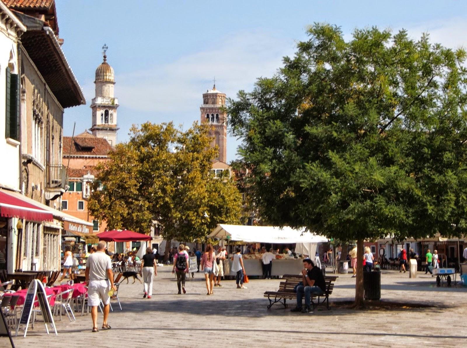The Campo Santa Margarita in the Dorsoduro district of Venice