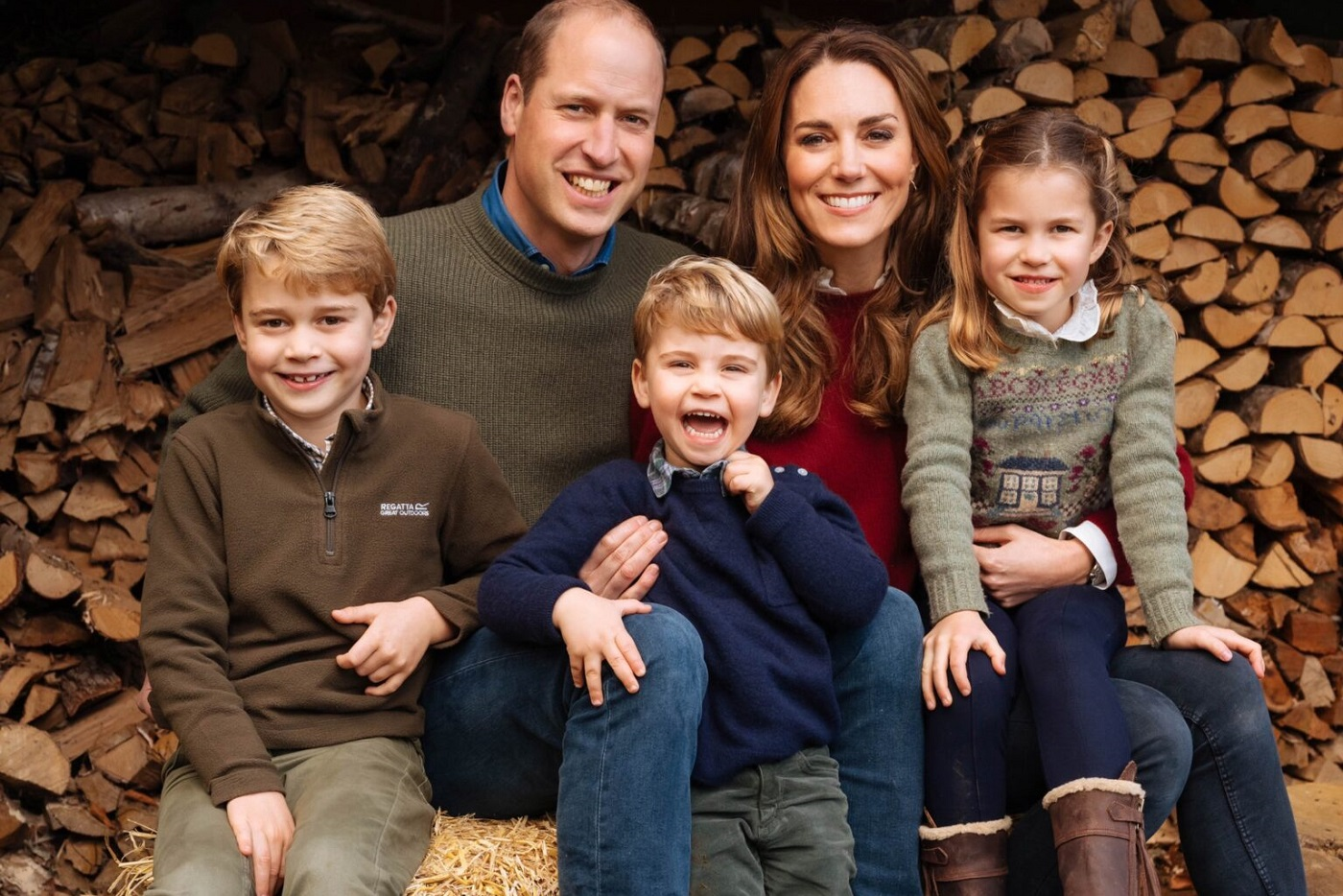 The Duke and Duchess of Cambridge took Prince George, Princess Charlotte and Prince Louis to the Sandringham Park area
