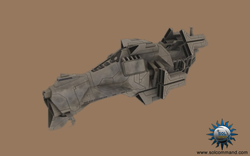 Dara Mothership 3d model original concept art solcommand class raid outpost border world mercenary combat warship destroyer command elite police cargo pirate clan