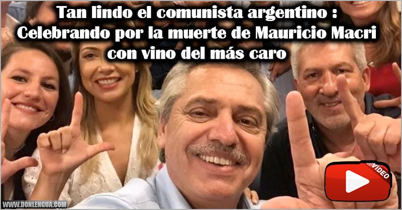 Tan lindo el comunista argentino : Celebrando por la muerte de Mauricio Macri