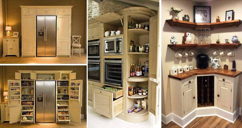 20 Creative Open Shelving And Cabinet Ideas For Kitchen Storage U0026  Organization   Desymbol