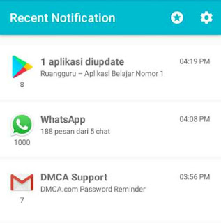 menghapus riwayat notifikasi recent notification