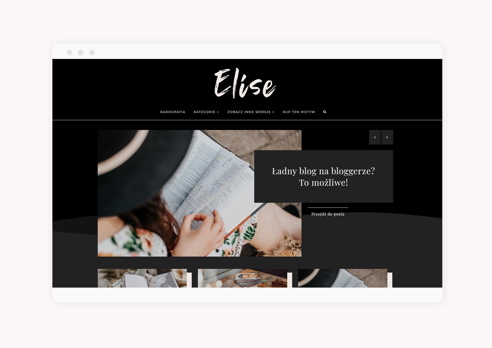 multi motyw na bloggera Elise - slider
