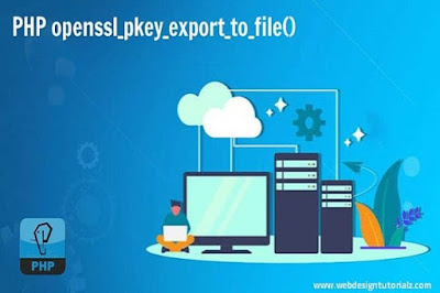 PHP openssl_pkey_export_to_file() Function