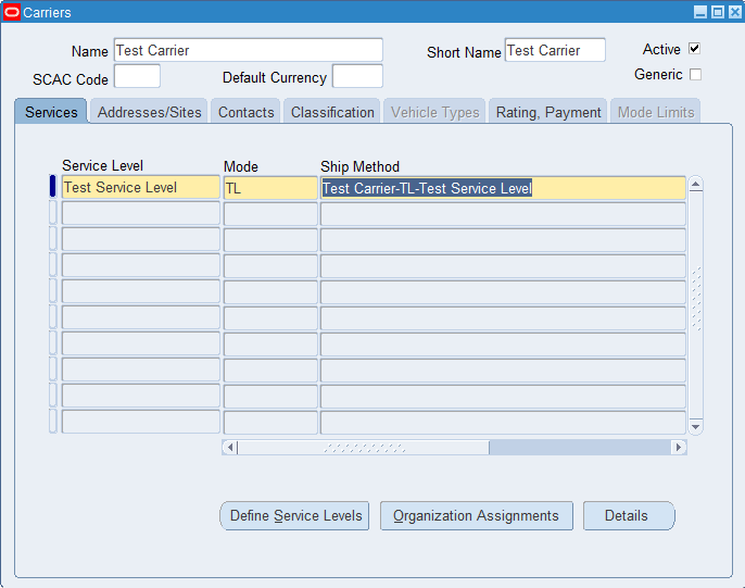 Defining Shipping Method in Oracle « Learn Oracle