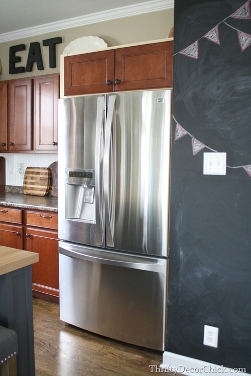 How to build in refrigerator with cabinets