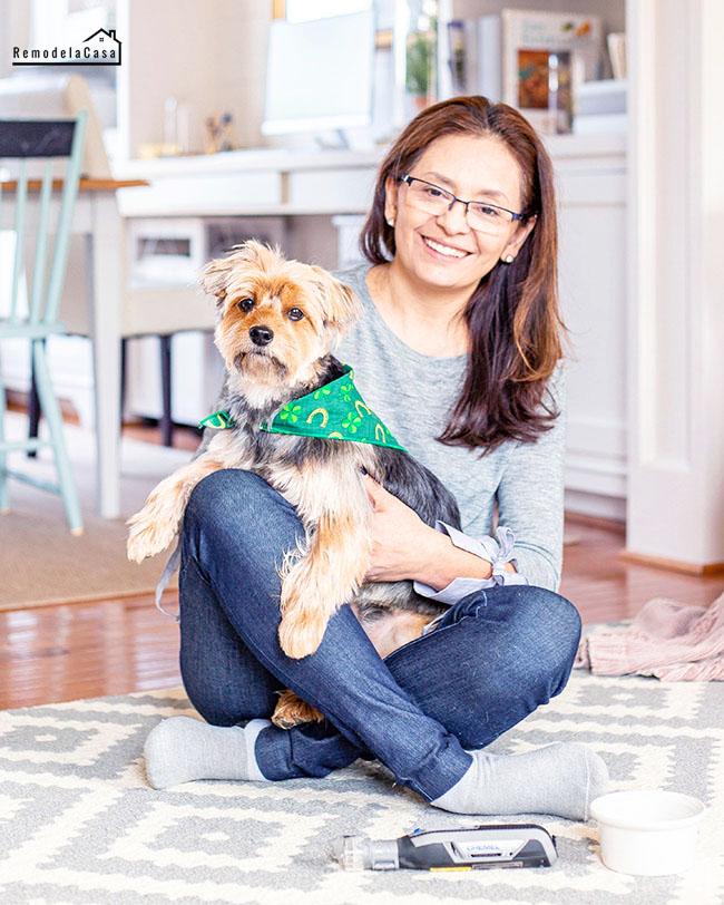 Cristina Garay and her Yorkie - Dremel Pet grooming kit
