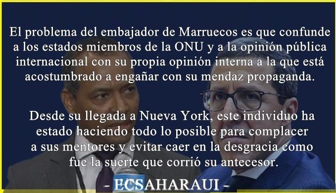 Sidi Omar replica al embajador marroquí tras la carta que éste difundió en la ONU mintiendo sobre la condición jurídica y política del Polisario.
