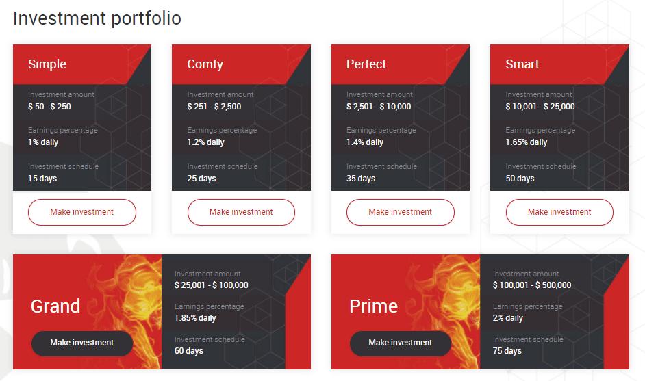 Инвестиционные планы Crypto Bulls
