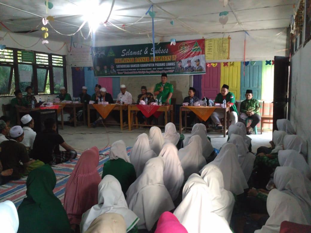 Diklatsar Banser PC GP Ansor Kabupaten Palas di ikuti peserta dari empat kecamatan
