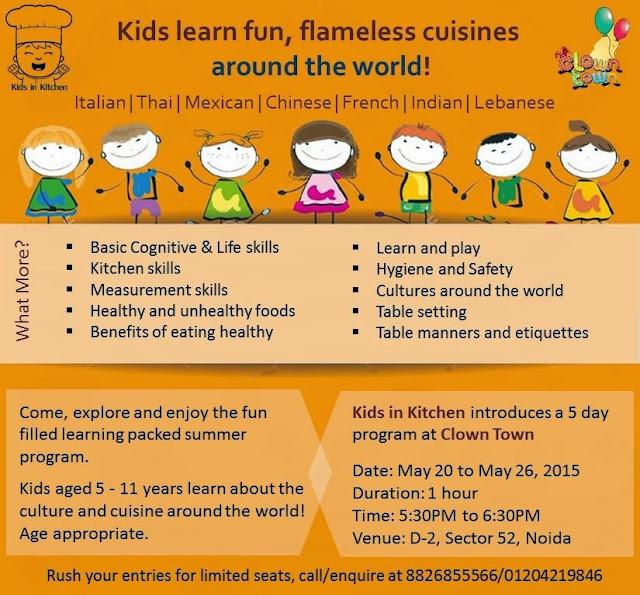 Kids in Kitchen Workshop at Clown Town, Noida