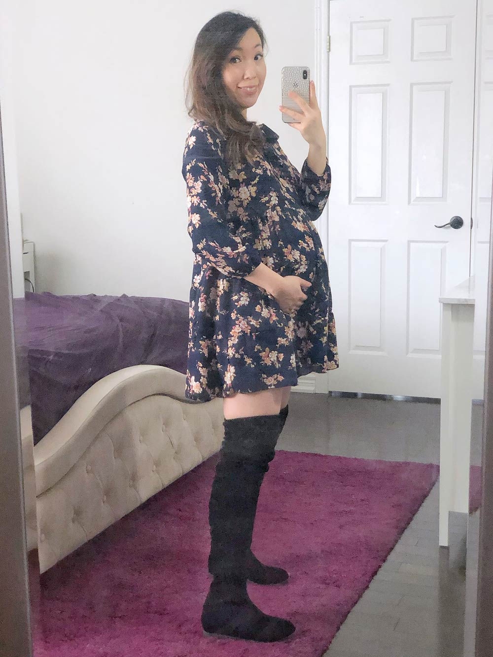 How to Look Stylish During Pregnancy - swing dress