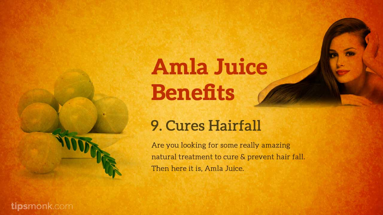 Amla juice benefits for hair - Tipsmonk