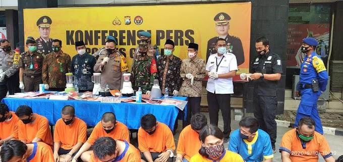 Operasi Tumpas Narkoba Semeru, Selama 12 Hari Polres Gresik Amankan 54 Tersangka