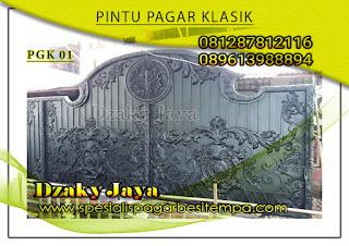Model pintu, gerbang, pagar, besi, tempa, klasik, mewah 01